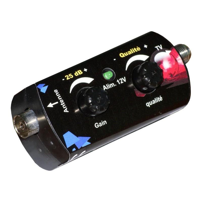 amplificateur booster 35 db r glable elap store. Black Bedroom Furniture Sets. Home Design Ideas