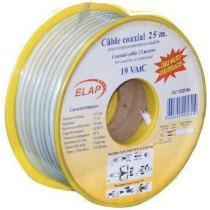 Bobine 50 m c ble pro coaxiale 17 vatc blanc triple for Cable plat passe fenetre