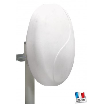 Antenne patch tnt hd couleur blanche amplifi e gain - Antenne interieure amplifiee 60 db ...